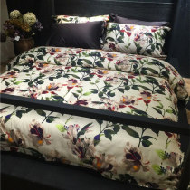 American style luxurious 100 branch Sea Island Cotton satin-like cotton fabric bedding article Four piece suit pure cotton Cotton Quilt cover sheet bedding