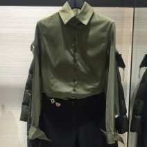 shirt Black, army green, white S/2,XL/5,M/3,L/4,XXL/6 cotton 51% (inclusive) - 70% (inclusive) Long sleeves commute Polo collar Single row multi button routine Solid color 35-39 years old Self cultivation Brother amashsin Simplicity 5300217-167339-001