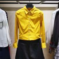 shirt Orange, ginger, sapphire, white, black S_ Size 2, 2XL_ Six, M_ Size 3, XL_ Size five, L_ 4 yards cotton 51% (inclusive) - 70% (inclusive) Long sleeves Versatile Polo collar Single row multi button routine Solid color Self cultivation Brother amashsin 5001-300946-1011447