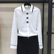 shirt white 4/L,5/XL,3/M,2/S cotton 51% (inclusive) - 70% (inclusive) Long sleeves Versatile stand collar Single row multi button routine Solid color 35-39 years old Self cultivation Brother amashsin 5001-300477-221961