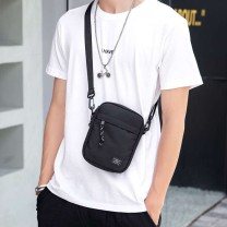 Men's bag Inclined shoulder bag oxford Other / other black brand new leisure time Japan and South Korea zipper soft Small no Zipper bag, mobile phone bag, certificate bag Solid color Yes Single root youth Vertical square Sewing Soft handle Three dimensional bag Straddle shoulder
