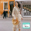 Dress Spring 2020 S,M,L Miniskirt singleton  Long sleeves Sweet other Elastic waist Broken flowers Socket A-line skirt routine Others 25-29 years old Type A Inman  printing 51% (inclusive) - 70% (inclusive) other cotton