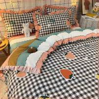Bedding Set / four piece set / multi piece set Polypropylene fiber Embroidery, quilting Others other Other / other Polypropylene fiber 4 pieces other Bed skirt Princess style