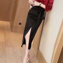 skirt Summer 2020 L,XL,2XL,S,M Crimson-75o, leopard print-912, long sleeve shirt, grey top contact customer service-96m, black-fez, black T-shirt, black T-shirt contact customer service-os0 High waist skirt HJDPEA Lace up, solid
