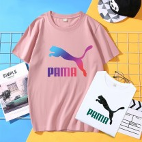 T-shirt Youth fashion routine Joey puma Short sleeve Crew neck easy daily summer 2021cdb Cotton 100% teenagers routine tide Cotton wool Gradients printing cotton Brand logo No iron treatment Non brand More than 95%