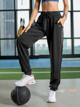 trousers K2272 Vest line sports shop One hundred and fifty-eight female L M S XL Meteorite black Summer of 2018 Frenulum Sports & Leisure easy Sports Life Series polyester fiber Moisture absorption, perspiration, quick drying and ventilation knitting middle-waisted