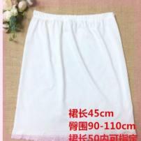 skirt Winter 2016 XL waist 80, m waist 60, l waist 70 Black, white Middle-skirt High waist A-line skirt Splicing