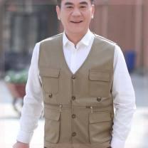 Sling / vest / T-shirt 210 / 5XL [180-200 Jin], 200 / 3XL [140-160 Jin], 195 / 2XL [120-140 Jin], 205 / 4XL [160-180 Jin], 190 / XL [90-120 Jin] Khaki [without zipper], black [with zipper], military green [without zipper], black [without zipper], military green [with zipper], khaki [with zipper] male