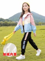 suit Xyiantaue / xinyiantaxue 130cm,120cm,150cm,160cm,140cm,170cm female spring and autumn Korean version Long sleeve + pants 2 pieces routine There are models in the real shooting Zipper shirt No detachable cap Solid color other DBT19153 Class C Other 100% Chinese Mainland