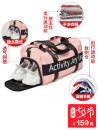 Travel bag nylon nothing Aji / Aji Square cylinder Black Pink Charm in yes motion Single root Fashion trend Bag type polyester fiber Soft handle written words youth Zipper hidden bag mobile phone bag certificate bag sandwich zipper bag Color contrast A5278s female Spring / summer 2018
