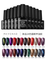 Nail color China no Normal specification Maychao / Meichao A308A309A310A311A312A313A314A315A316A317A318A319A320A321A322A323A324A325A326A327A328A329A330A331 Color Nail Polish Coloration durability gloss easy to dry use effect comfort no residual absorption Any skin type 3 years 7.3ml