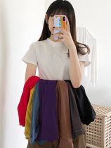 T-shirt White, black, red, grayish brown, sapphire blue, ginger yellow, white, purple, light yellow MLXLXXL Summer of 2018 Short sleeve Half high collar easy Regular routine commute 18-24 years old Korean version originality Solid color Snow admires beauty 3908-1 Pure e-commerce (online only)