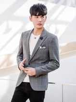 man 's suit Youth fashion grey Naring routine L NL-XA861 Polyester 68% viscose 29% polyurethane elastic 3% Autumn of 2018 Pure e-commerce (online only) Polyester viscose