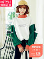 Sweater / sweater Autumn of 2018 Navy green XSSML Long sleeves Socket routine singleton  routine Half high collar easy commute other letter 18-24 years old Hstyle / handu clothing house Korean version EJ8450. Cut print stitching Cotton 70% polyester 30% Pure e-commerce (online only)
