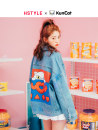 short coat Autumn of 2018 SML blue Long sleeves routine routine singleton  easy commute routine Polo collar Single breasted Cartoon animation 18-24 years old Hstyle / handu clothing house Pocket button stitching print IG8275. cotton Cotton 100%