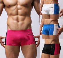 Men's swimsuit Brave person Rose red white black blue S M L nylon