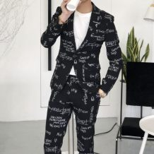 Suit Fashion City Others Grey black S suit + pants m suit + pants l suit + Pants XL suit + pants 2XL suit + pants 3XL suit + pants 28 to 36 routine Back middle slit Flat lapel spring Self cultivation A single breasted button Other leisure youth tide Regular collar (collar width 7-9cm) 2018 other