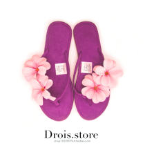 slipper 36 37 38 39 40 Other / other violet Flat bottom Low heel (1-3cm) cloth Summer 2015 flip flops rubber sandy beach solar system Adhesive shoes Youth (18-40 years old) Plants and flowers flower 019 flip flop cloth cloth zero point five zero zero point zero one