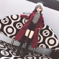 BJD doll zone suit 1/3 Over 3 years old goods in stock Full suit (including socks but not shoes) only coat only stripe T-shirt only leather Shorts Black Boots 1 / 3 DD 1 / 4 MSD 1 / 6 yosd big 6 points 70-72 big baby nothing