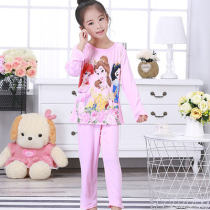 Pajamas / housewear set Parenting Other / other cotton Long sleeves Cartoon pajamas autumn Thin money Crew neck Cartoon animation trousers Socket juvenile 2 pieces rubber string 81% (inclusive) - 95% (inclusive) pure cotton Embroidery GG1333 200g