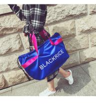 Travel bag oxford nothing Other / other Light blue royal blue black red yes leisure time other European and American fashion Bag type polyester fiber Soft handle written words youth Zipper pocket mobile phone bag letter