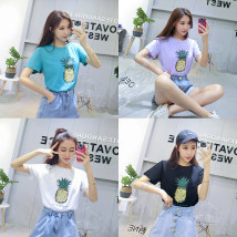 T-shirt White purple green black Average size Summer of 2018 Short sleeve Crew neck easy Regular routine commute other 31% (inclusive) - 50% (inclusive) 18-24 years old Simplicity youth Other / other 050413