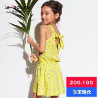 Dress Yellow bz463 light green bz461 pink bz462 La Redoute / ledute female 2A 4A 6A 7A 8A 10A 12A Cotton 100% summer princess Skirt / vest A-line skirt
