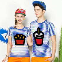 T-shirt Female s female m female l male s male m male l male XL male XXL Summer of 2018 Short sleeve Crew neck Self cultivation Regular routine commute cotton 96% and above 18-24 years old Korean version love Cartoon animation Qiqu clothing dxql19086 printing