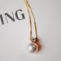 Neckwear Seawater pearl Necklace circular Shop warranty Gold / gold inlay Luring Pearl / Liuyin jewelry