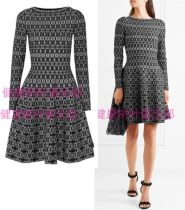 Dress Autumn of 2018 Black and white jacquard French fr36-xs French fr38-s French fr40-m French fr42-l French fr44-xl ALAIA