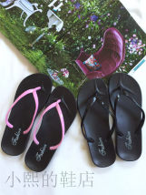 slipper It's recommended to make two yards bigger Other / other Black with pink Flat heel Flat heel (1cm or less) plastic cement Summer 2016 Youth (18-40 years old)