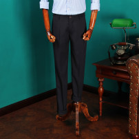 Western-style trousers Crowben / kloppen Fashion City Blue Coffee 29 30 31 32 33 34 36 059K trousers Slim fit spring leisure time youth Simplicity in Europe and America 2017