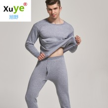 Warm suit Other / other Polyester (polyester) male 4XL L XL XXL XXXL light grey a set dark grey a set dark blue a set Long sleeves trousers keep warm Solid color thickening Regular crew neck middle age Plush One hundred and twenty-four sexy polyester fiber 450g and above