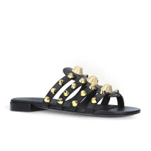 Sandals 46 yards 45 yards 34 35 36 37 39 40 41 42 43 44 White red blue black Other / other PU Barefoot Flat heel Low heel (1-3cm) Summer of 2018 leisure time Solid color rubber sandy beach rivet PU one hundred and eighty million two hundred and twenty-eight thousand and five 1KG 25*28*10