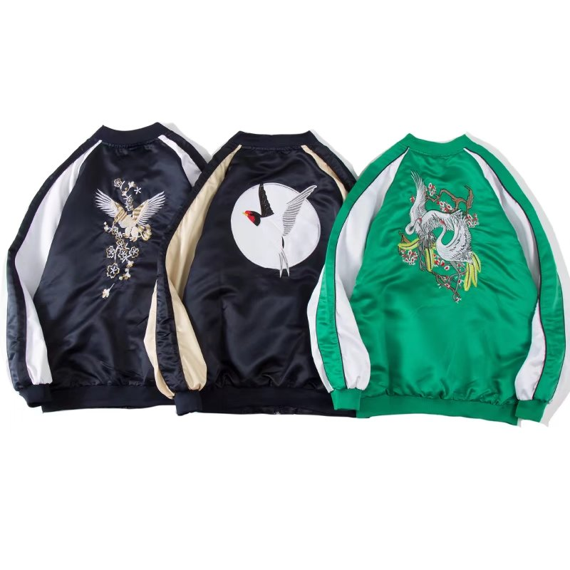 Jacket Other / other Youth fashion 806 ᦇ Golden Dragon Jacket Black embroidery - Crane coat green embroidery - swallow coat blue embroidery - Eagle coat blue 1107 ᦇ coat black 1107 ᦇ coat green 686 wing jacket gold 686 wing jacket red 686 wing Jacket Black M L XL 2XL routine Self cultivation autumn