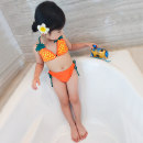 Bathing suit S size is about 80-90cm, M size is about 90-100cm, L size is about 100-110cm, XL size is about 120-130cm Other 100% orange Other / other female Children's Bikini Pineapple suit