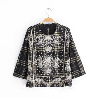 shirt black S M L Autumn of 2018 other 51% (inclusive) - 70% (inclusive) Long sleeves Length & le; 50cm Crew neck routine 18-24 years old