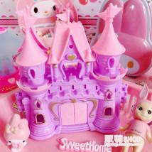 Ornaments pvc  character Cartoon style Pink Castle purple Castle