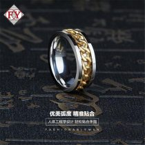 Ring / ring Titanium steel RMB 1.00-9.99 Other / other brand new goods in stock Europe and America male Fresh out of the oven Not inlaid other LTJZ01