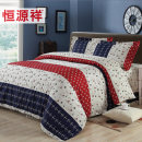 Bedding Set / four piece set / multi piece set An ode to leisure life, a free life, a dream, a flower, a bell, and a love affair. Forty Heng Yuanxiang 4 pieces stripe cotton 133x72 1.5m (5 ft) bed 1.8m (6 ft) bed 1.2m (4 ft) bed other cotton Sheet style Qualified products Simple Twill cotton 100%