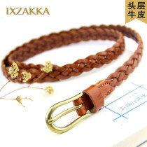Belt / belt / chain top layer leather Please note waist width 1.6cm, please note waist width 1.6cm, please note black waist width 1.6cm, please note