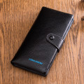 wallet Long Wallet cowhide Hengsheng Black Brown brand new Retro male Buckles Solid color 80% off Erect funds middle age Clemence  polyester fiber