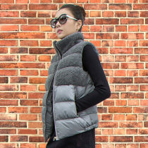 Vest Winter of 2018 Red gray black camel M L XL 2XL 3XL have cash less than that is registered in the accounts stand collar commute Solid color zipper one thousand and ninety-eight other 25-29 years old Other / other Stitching zipper Silk like cotton
