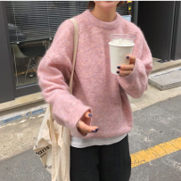 Wool knitwear Autumn of 2018 Average size Apricot Blue Coffee Long sleeves singleton  Socket other 81% (inclusive) - 90% (inclusive) Medium length easy