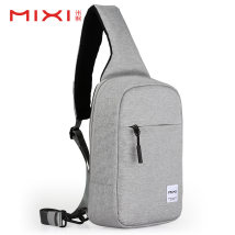 Men's bag Chest pack polyester fiber Mi Xi 11 inch black 11 inch Navy Blue 12 inch light gray 12 Inch Black 12 INCH NAVY BLUE 11 inch light gray brand new leisure time European and American fashion zipper soft Small no Zipper pocket mobile phone bag Solid color Yes Single root youth Vertical square
