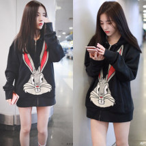Sweater / sweater Autumn of 2018 black S M L XL Long sleeves routine singleton  routine Hood easy commute routine 18-24 years old 96% and above Korean version cotton cotton Cotton liner zipper