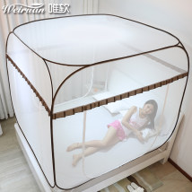 Mosquito net Soft only 3 doors Yurt style 1.0m (3.3 ft) bed 1.2m (4 ft) bed 1.35M (4.5 ft) bed 1.5m (5 ft) bed 1.8m (6 ft) bed 2.0m (6.6 ft) bed currency stainless steel A1601 Installation free