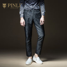 Western-style trousers Pinli Fashion City gules Thirty-four B173315155 Polyester 100% Fall 2017 Pure e-commerce (online only)