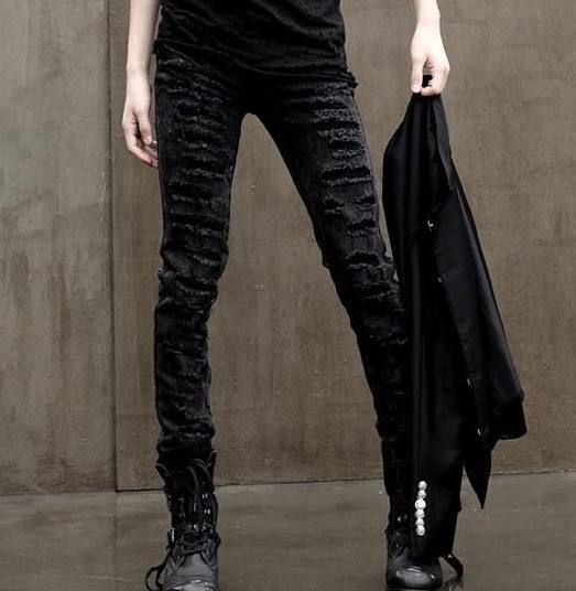 Jeans Youth fashion Others 28 29 30 31 32 33 34 36 black routine Micro bomb Regular denim trousers Other leisure winter youth Medium low back Slim feet tide 2015 Little straight foot zipper washing No iron treatment for holes
