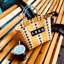 Bag The single shoulder bag Acrylic plastics Woven bag Other / other brand new Fashion trend large leisure time hard Exposure no lattice other nothing